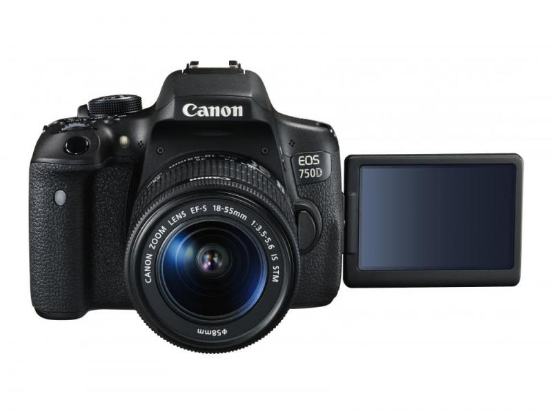 Camera foto Canon DSLR EOS 750D + EF-S 18-55 IS STM Black, 24.2