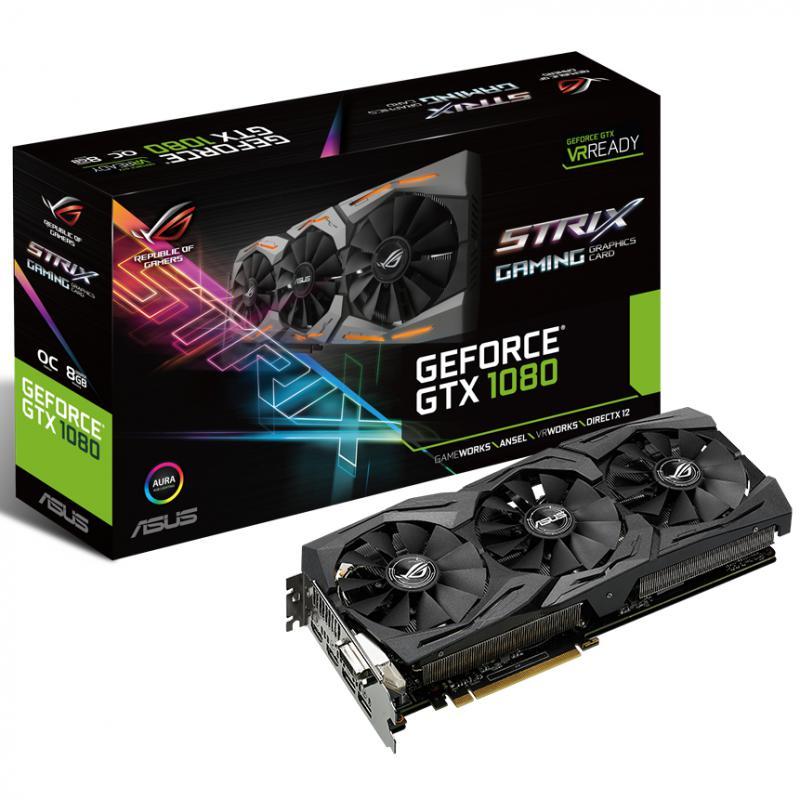 Placa video Asus NVIDIA STRIX-GTX1080-8G-GAMING, GTX 1080, PCI-