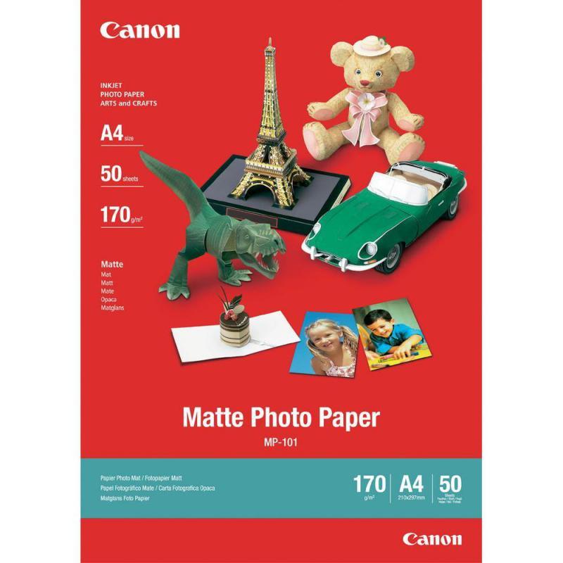Hartie foto Canon MP-101 A4, dimensiune A4, 50 coli, tip matte,