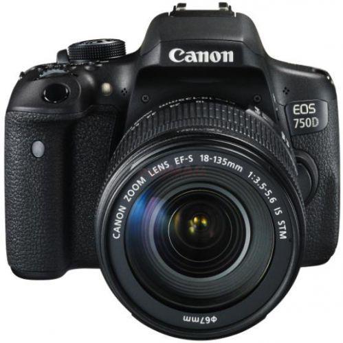 Camera foto Canon DSLR EOS 750D + EF-S 18-135 IS STM Black, 24.