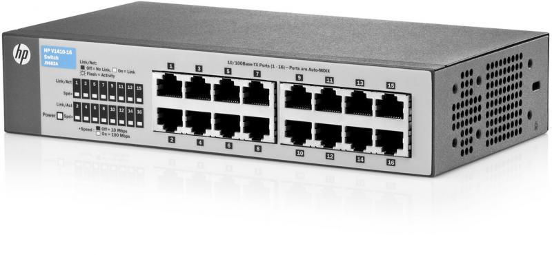 Switch HP 1410 16 porturi FastEthernet porturi rackabil Layer 2