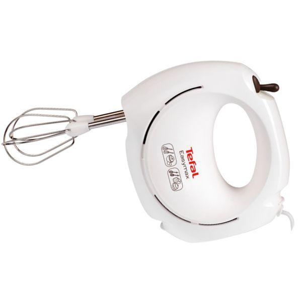 Mixer de mana Tefal Easy Max HT250138, putere 200 W, 2 viteze,