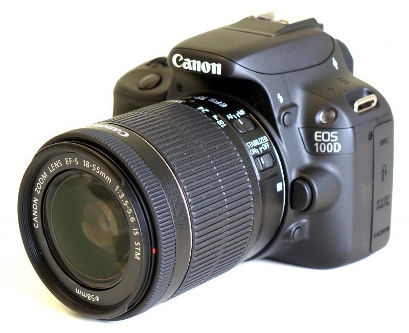 Camera foto Canon DSLR EOS 100D + EF-S 18-55 STM IS Black, 18 M