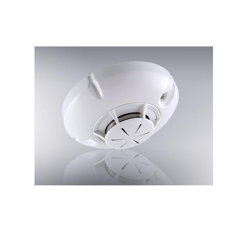 Wireless optical-smoke fire detector (base and battery included