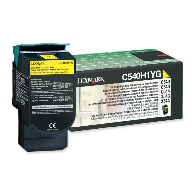 Cartus toner Lexmark C540H1YG, yellow, 2 k, C540n , C543dn , C5