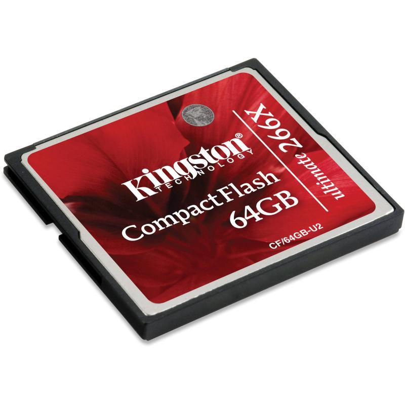 Compact Flash Card Kingston, 64GB, Ultimate 266X, r/w speed: 45