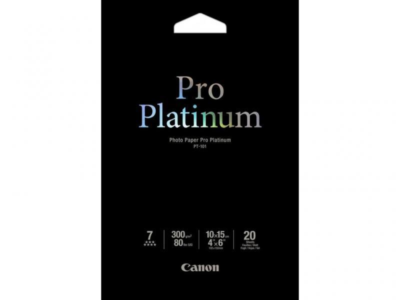 Hartie foto Canon PT-101, dimensiune 10x15 cm, 20 coli, tip Pro