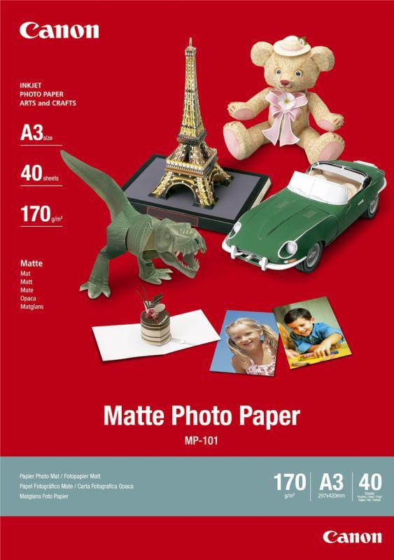 Hartie foto Canon MP-101 A3, dimensiune A3, 40 coli, tip matte,