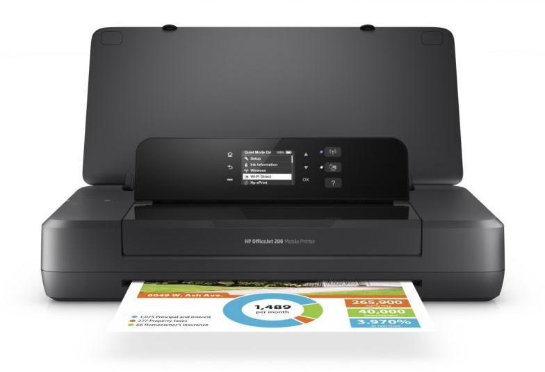 Imprimanta inkjet color HP OFFICEJET 202 MOBILE PRINTER, Dimens