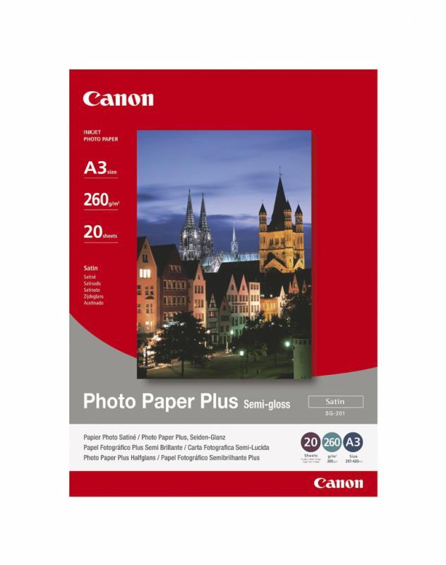 Hartie foto Canon PP-201 A3+, dimensiune A3+, 20 coli, tip glos
