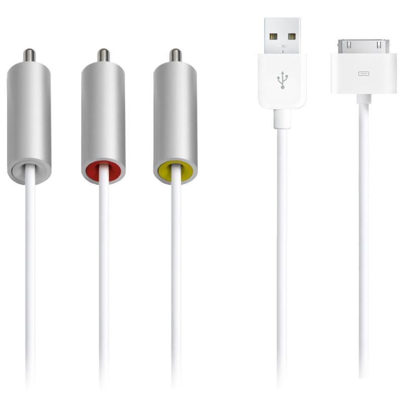 Cablu Apple Composite AV, compatibil iPhone, iPad, iPod, MC748Z