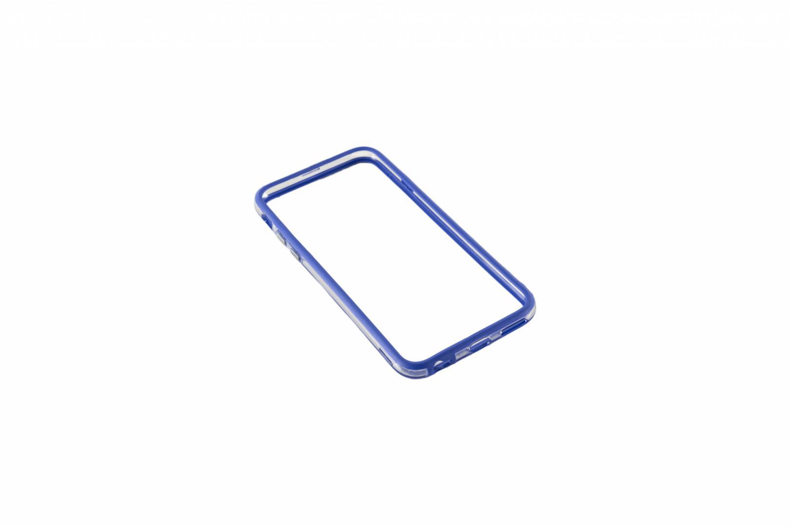 Bumper Serioux, pentru iPhone 6, silicon, albastru