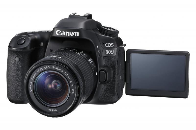 "Camera foto Canon EOS80D EF18-55S, 24MP, CMOS,3"" TFT fully arti"
