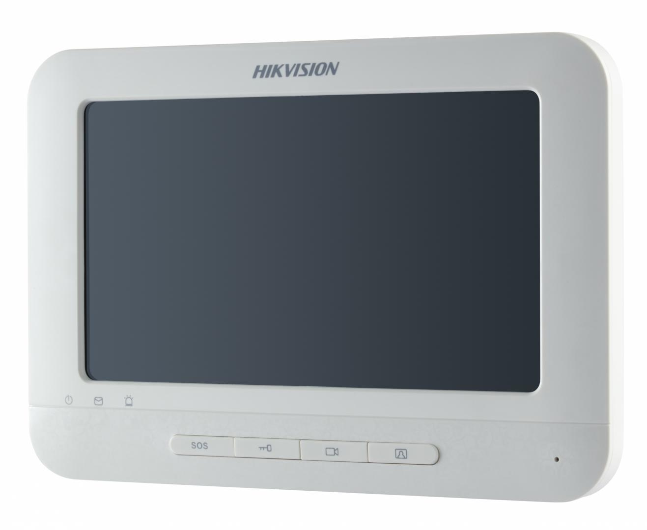 "Monitor videointerfon color Hikvision DS-KH6310-W, 7"" Touch-Sc"