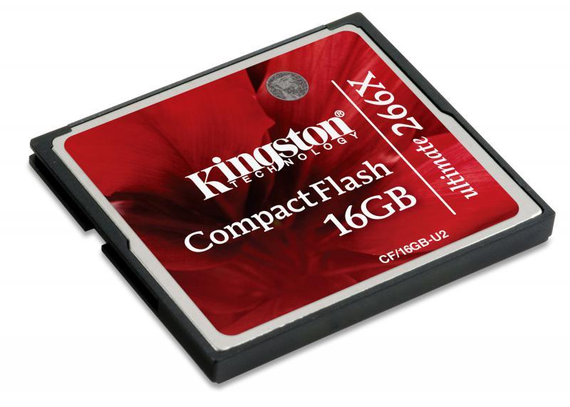 Compact Flash Card Kingston, 16GB, Ultimate 266X, r/w speed: 45