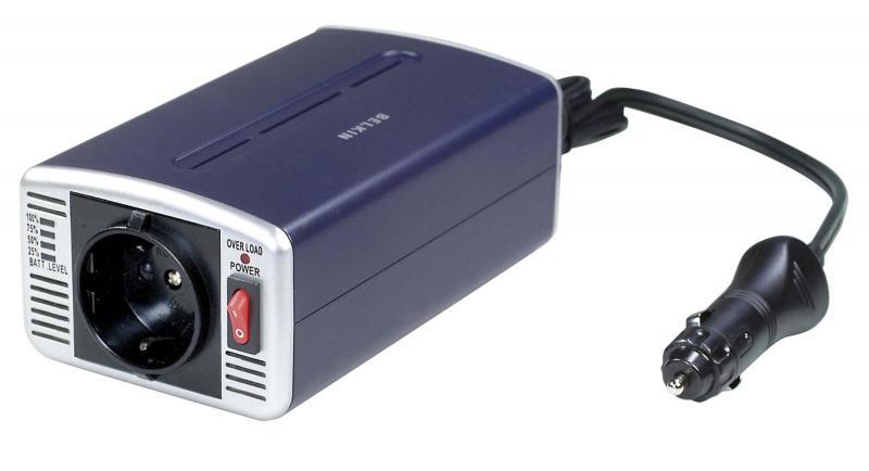 Invertor de tensiune Belkin 300W, DC/AC, DC12V AC230V, LED indi