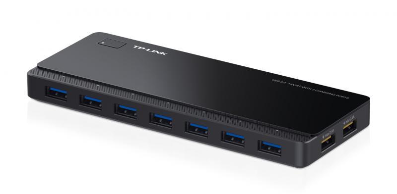 Hub USB TP-Link, UH720, 7 porturi USB 3.0, 2 porturi pentru rei
