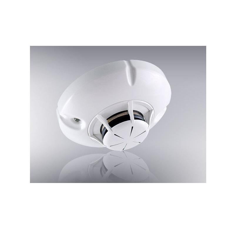 Wireless combined optical-smoke and rate of rise heat detector