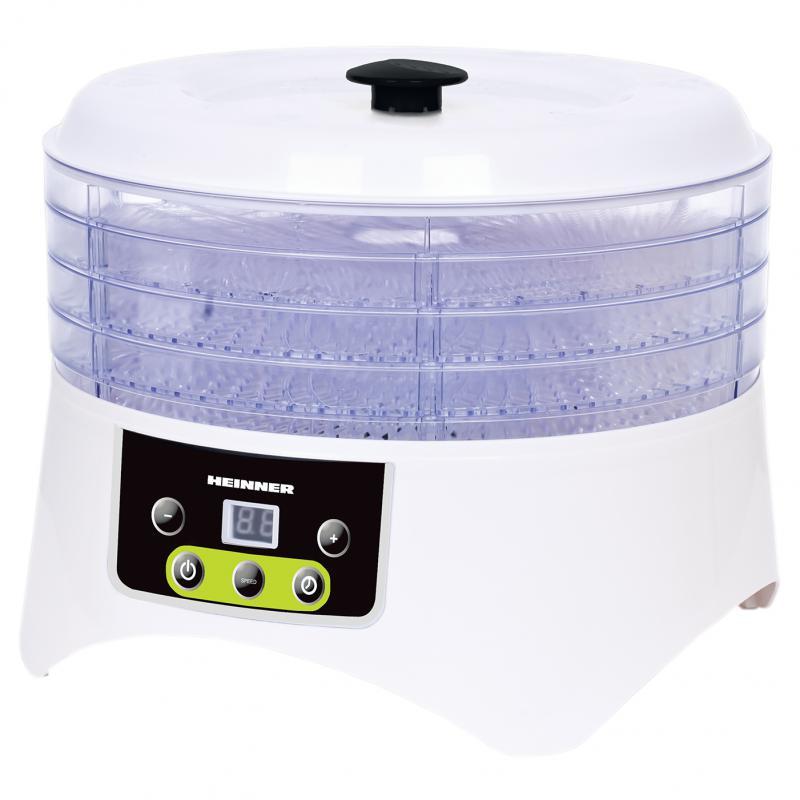 Deshidrator de alimente Heinner HFD-404TD, display LED, timer,