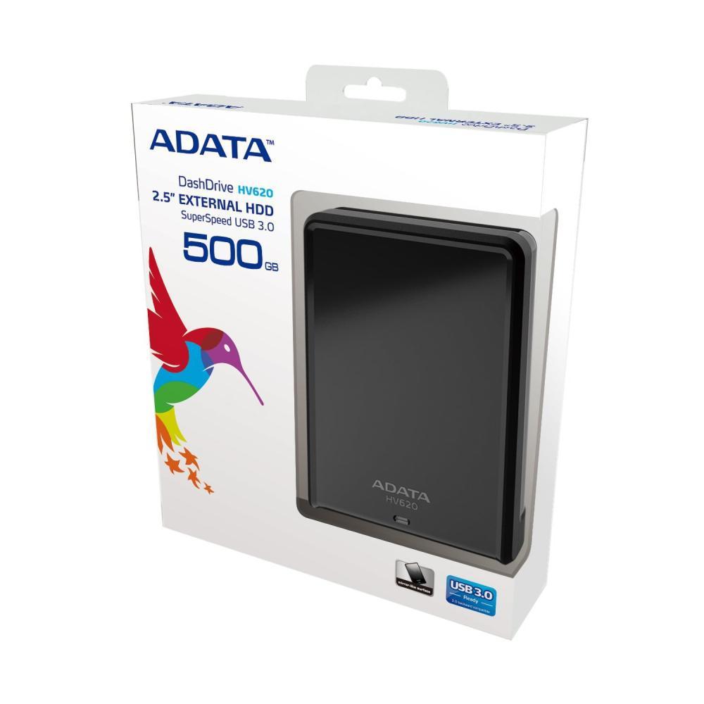 """HDD extern ADATA, 500Gb, HV620, 2.5"""", Negru, AHV620-500GU3-CBK"""