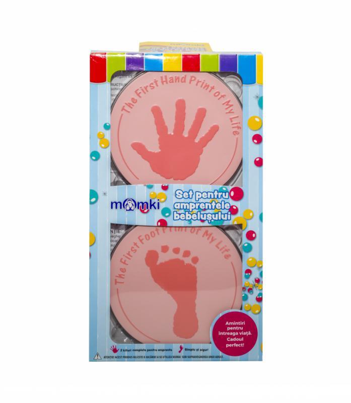 Set pentru amprentele bebelusului,pink