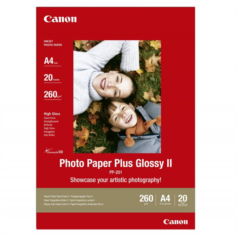 Hartie foto Canon PP-201 A4, dimensiune A4, 20 coli, tip glossy
